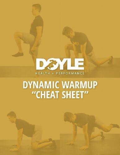 DHP Dynamic Warmup Cheat Sheet