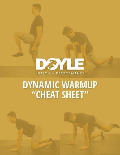 DHP Dynamic Warmup Cheat Sheet